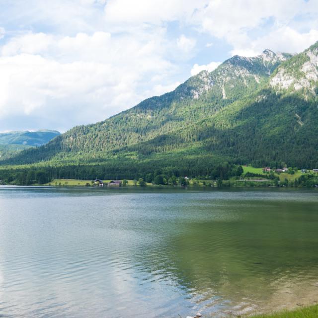 """""""Hallstatt Landscape #390"""" stock image"""