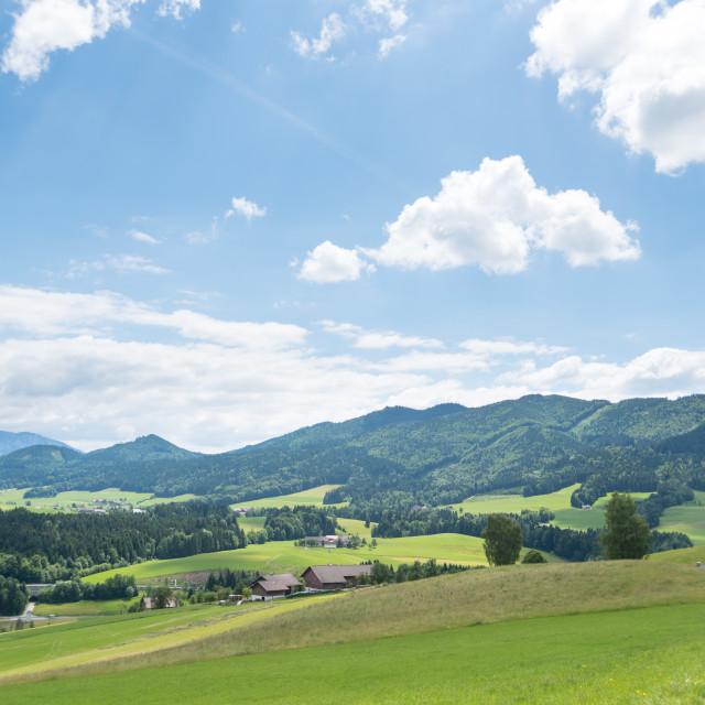 """Oberwang Landscape #521"" stock image"