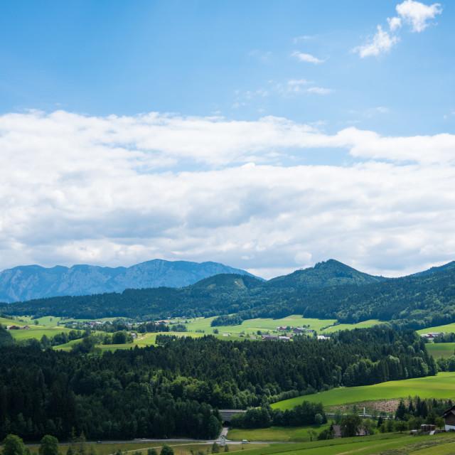 """Oberwang Landscape #517"" stock image"