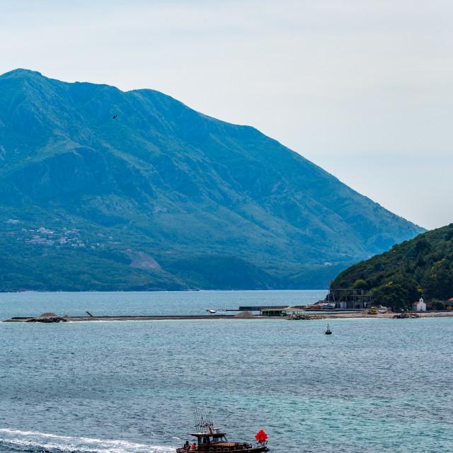 """Fishing moments near Budva in Montenegro"" stock image"