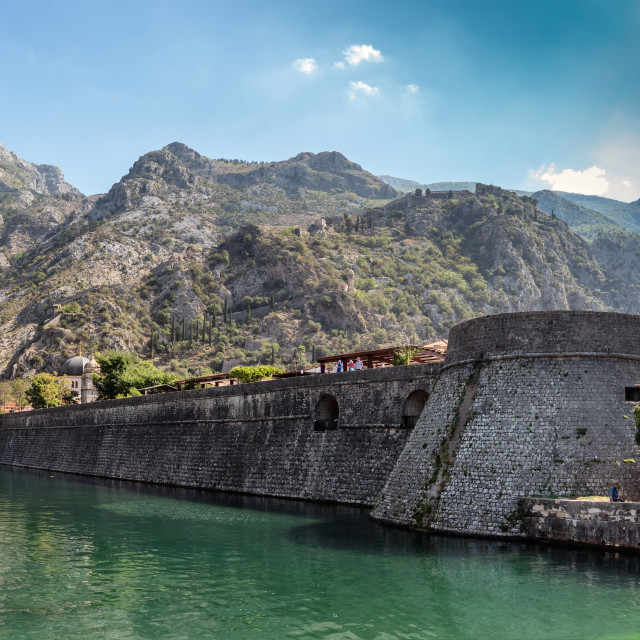 """""""Kotor fortress lower part in Montenegro"""" stock image"""