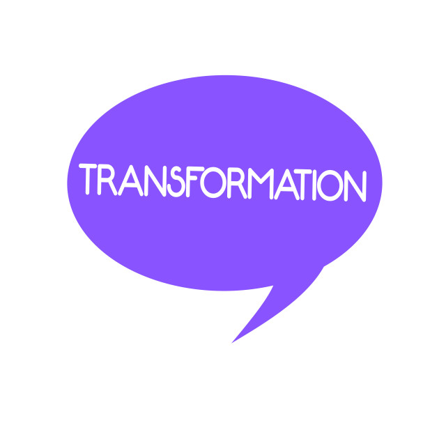 """""""Handwriting text Transformation. Concept meaning A marked change in form..."""" stock image"""