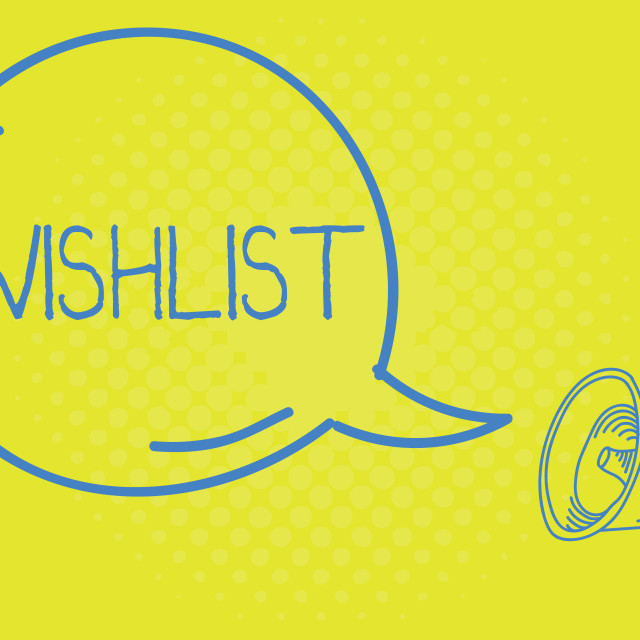 """Word writing text Wishlist. Business concept for List of desired but often..."" stock image"