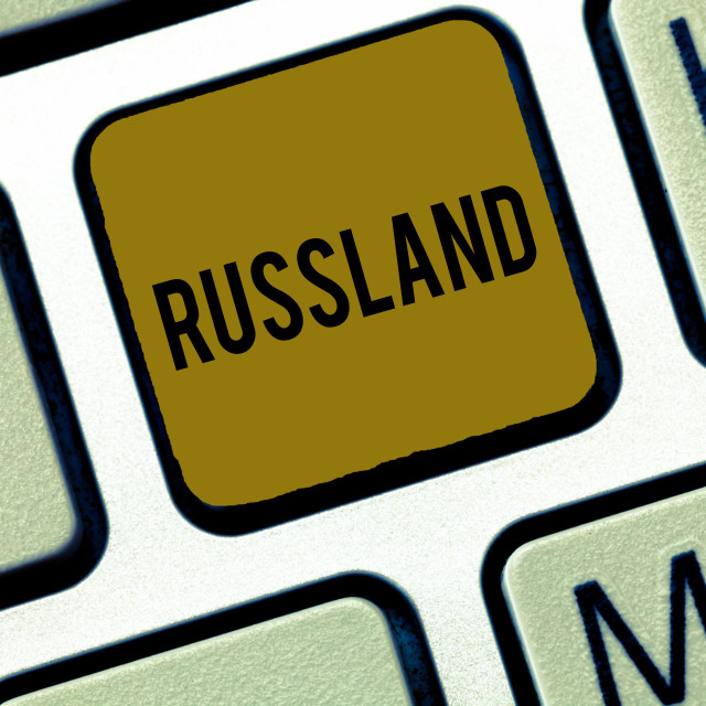 """""""Word writing text Russland. Business concept for former empire of eastern..."""" stock image"""