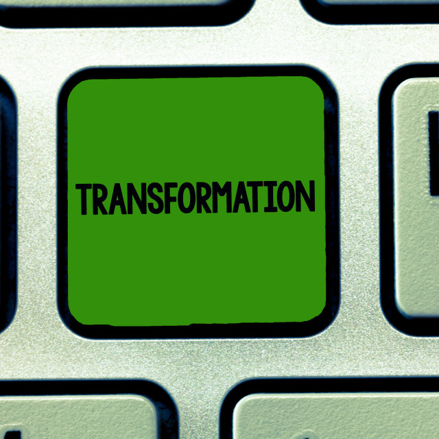 """""""Conceptual hand writing showing Transformation. Business photo showcasing A..."""" stock image"""