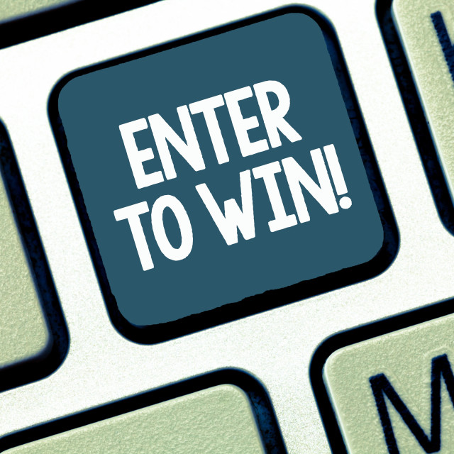 """""""Handwriting text Enter To Win. Concept meaning Sweepstakes Trying the luck to..."""" stock image"""