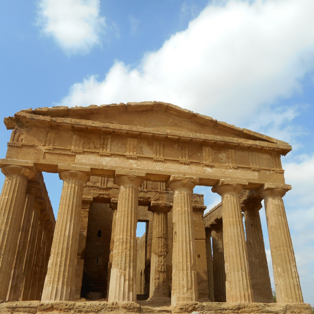 """Greek Temple, Sicily"" stock image"