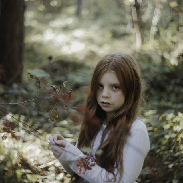 """An Autumn fairy"" stock image"