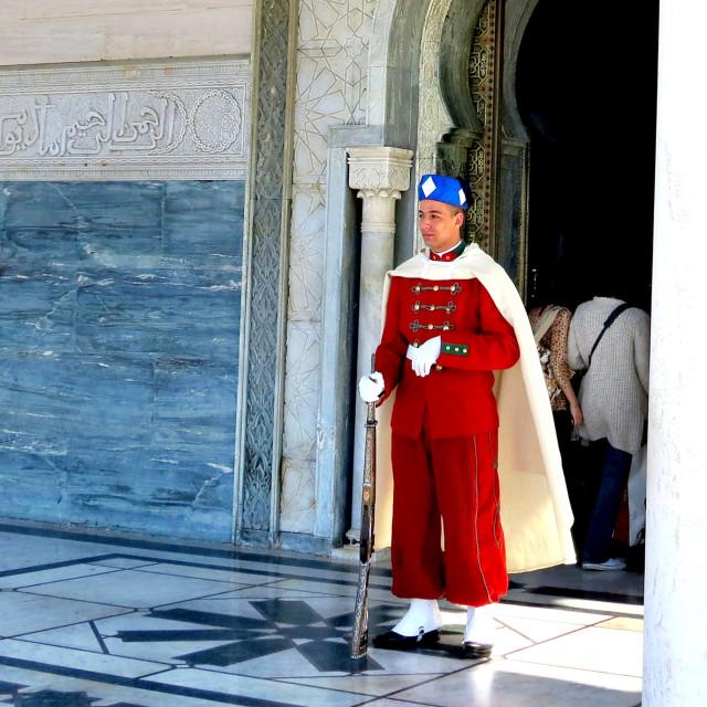 """Guard in Morocco"" stock image"