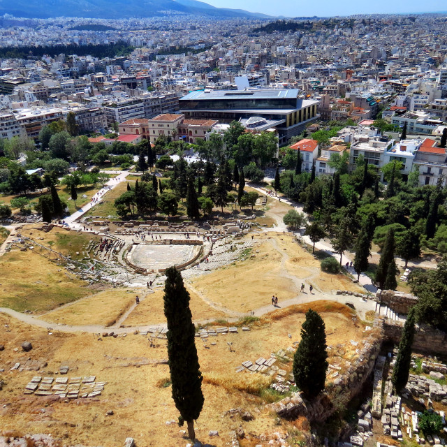 """""""View from the Acropolis"""" stock image"""