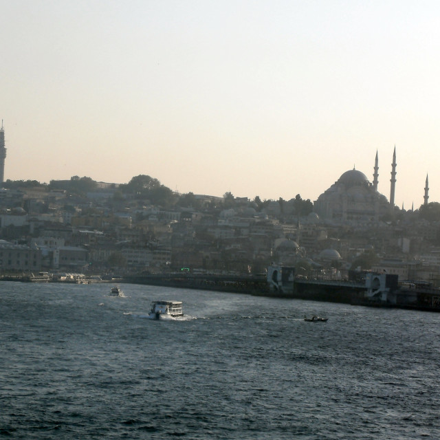 """Dusk over Istanbul"" stock image"
