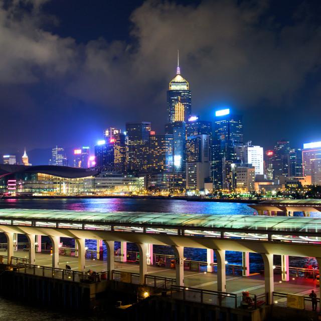 """""""Hong Kong island central harbor"""" stock image"""