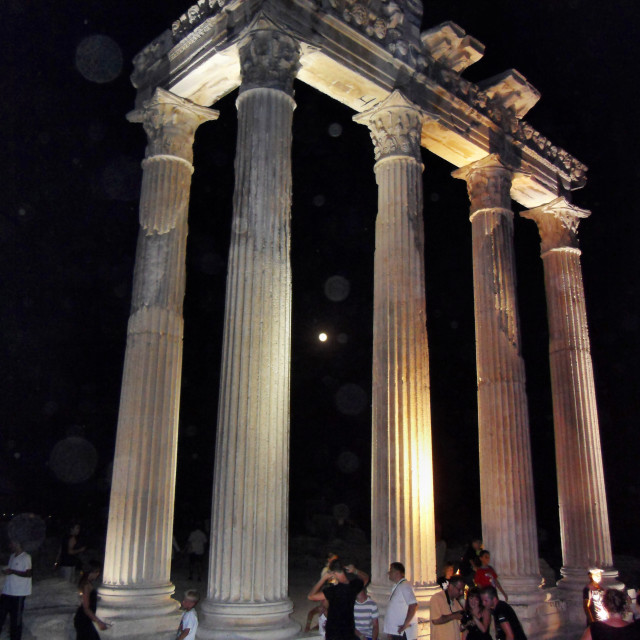 """""""Greek temple ruins at Side Turkey"""" stock image"""