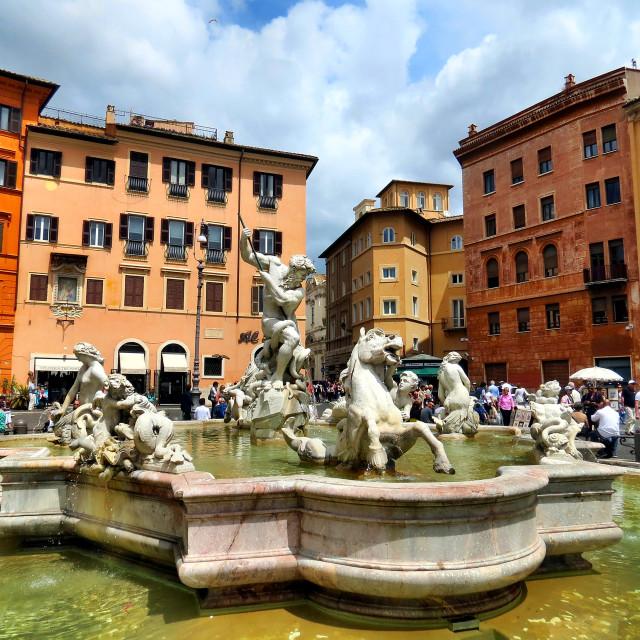 """Piazza Navona Rome"" stock image"