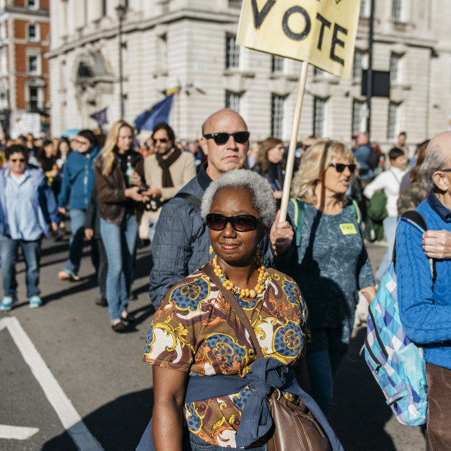 """""""Peoples' Vote March [12]"""" stock image"""