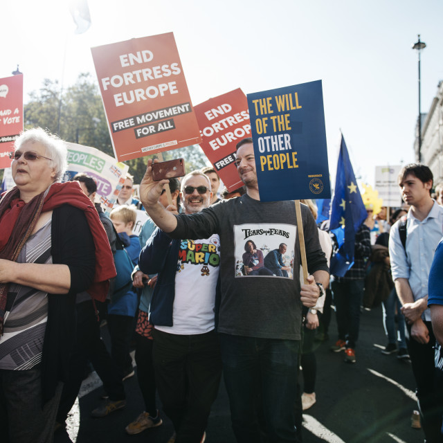 """""""Peoples' Vote March [6]"""" stock image"""