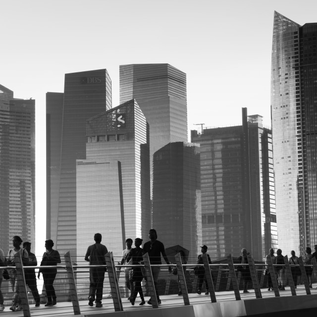 """""""Walk in the Lion City: SINGAPORE"""" stock image"""