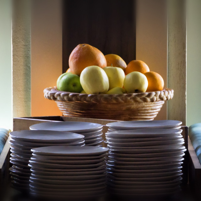 """""""Fruit Onboard a Cruise: The Sound of Silence"""" stock image"""