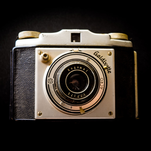 """Vintage Camera: Goldixette"" stock image"
