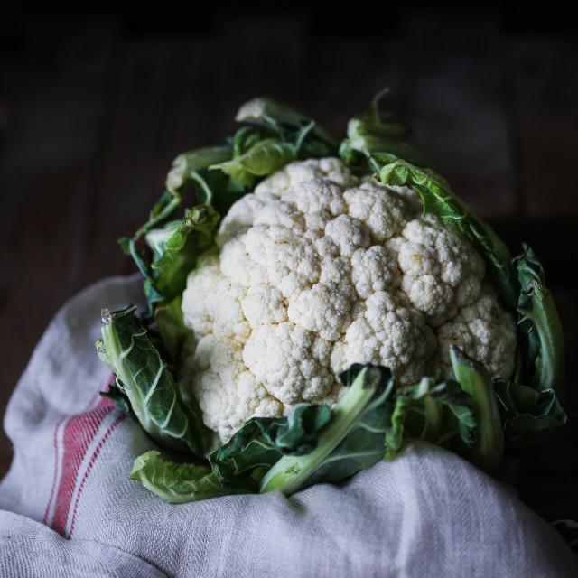 """""""White Cauliflower"""" stock image"""