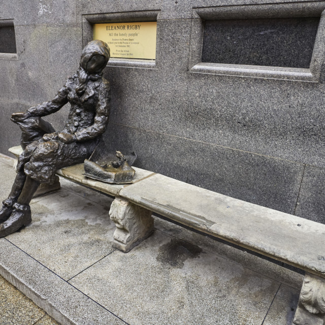 """""""Eleanor Rigby statue in Liverpool"""" stock image"""