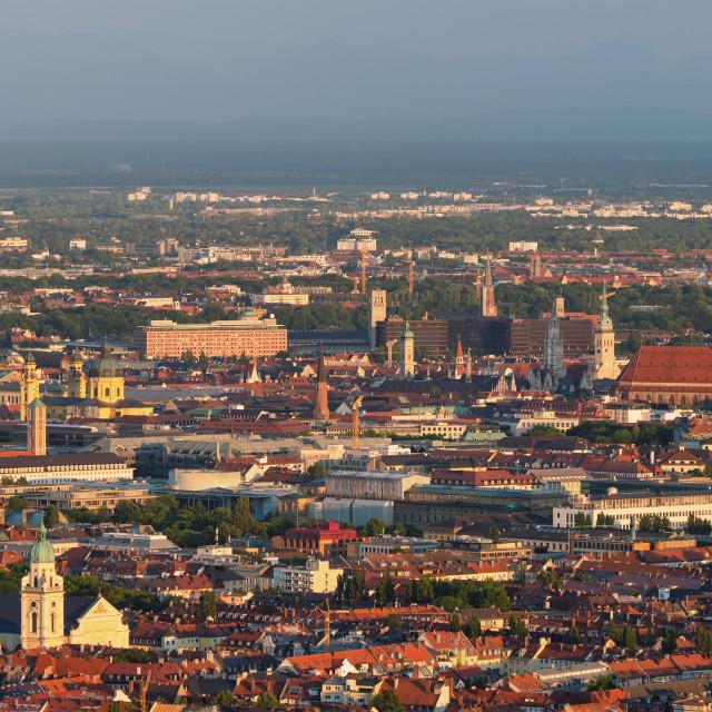 """Aerial view of Munich. Munich, Bavaria, Germany"" stock image"