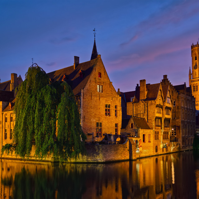 """""""Famous view of Bruges, Belgium"""" stock image"""