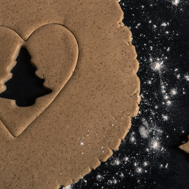 """""""Gingerbread cookie tree shape"""" stock image"""