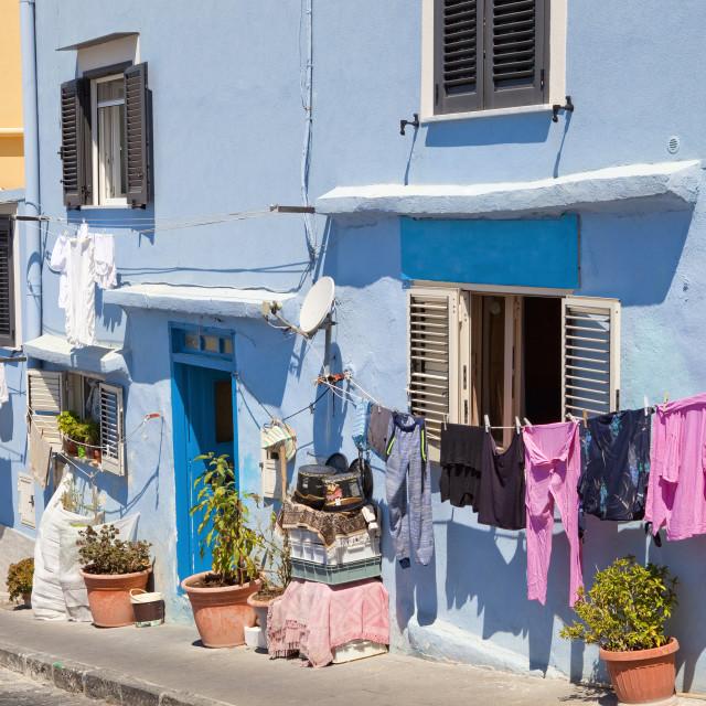 """Italy, Procida island - Houses at Village Corricella."" stock image"