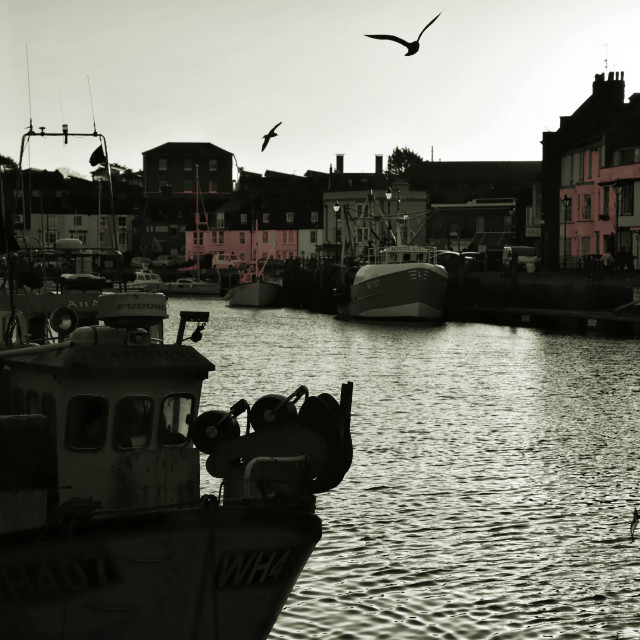 """A Gloomy Weymouth Quayside"" stock image"