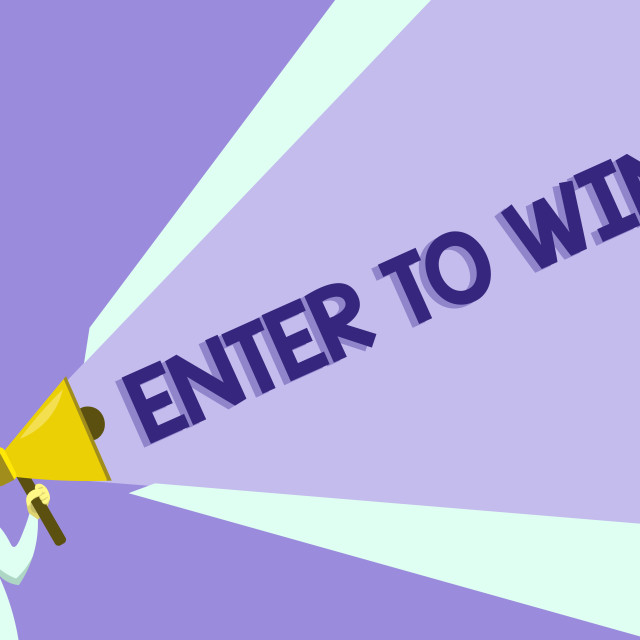 """""""Text sign showing Enter To Win. Conceptual photo Sweepstakes Trying the luck..."""" stock image"""