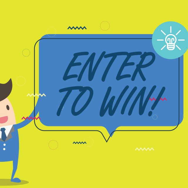 """""""Handwriting text writing Enter To Win. Concept meaning Sweepstakes Trying the..."""" stock image"""