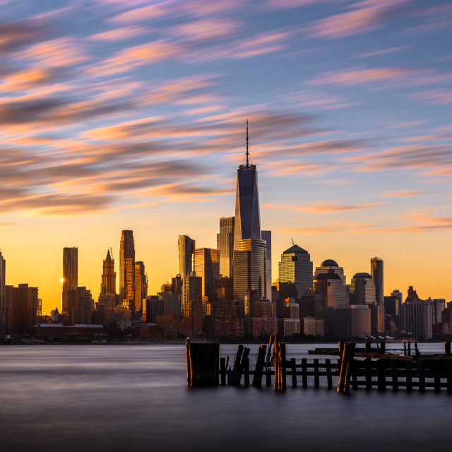 """Morning Sunrise NYC"" stock image"