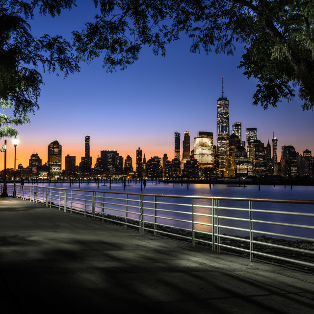 """New York City Pre Dawn"" stock image"
