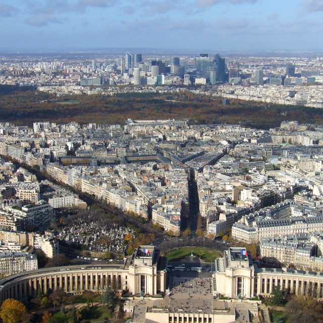 """""""View from Eiffel Tower, Paris"""" stock image"""