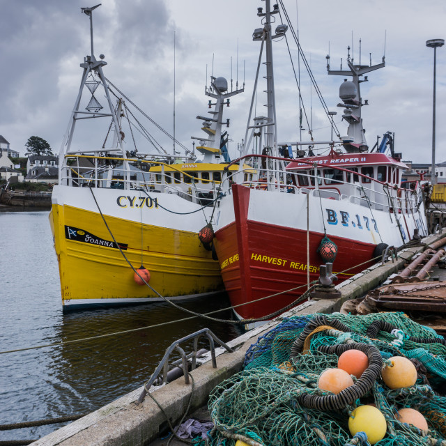 """Scottish Fishing Boats"" stock image"