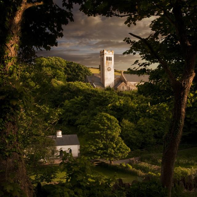 """Manorbier Church"" stock image"