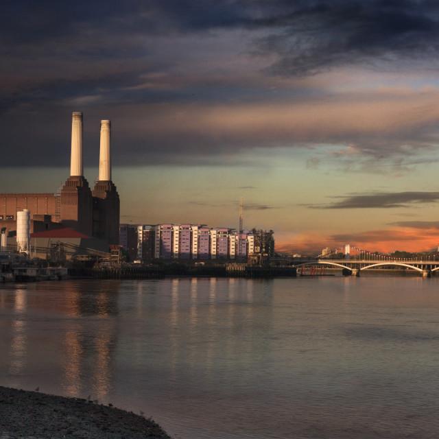 """Battersea Power Station"" stock image"