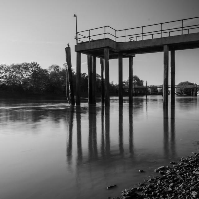 """River pier"" stock image"