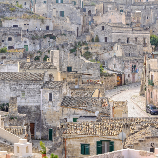 """""""Up alleys, down lanes - Matera"""" stock image"""