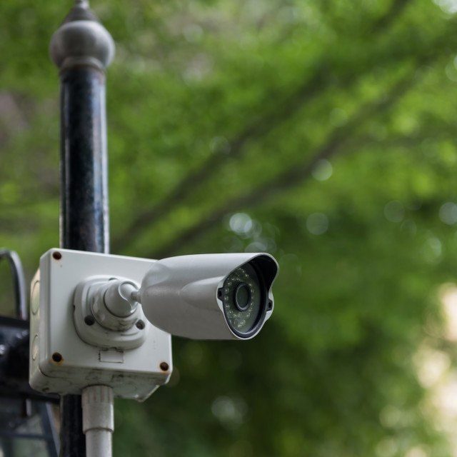 """Outdoor CCTV security video camera"" stock image"