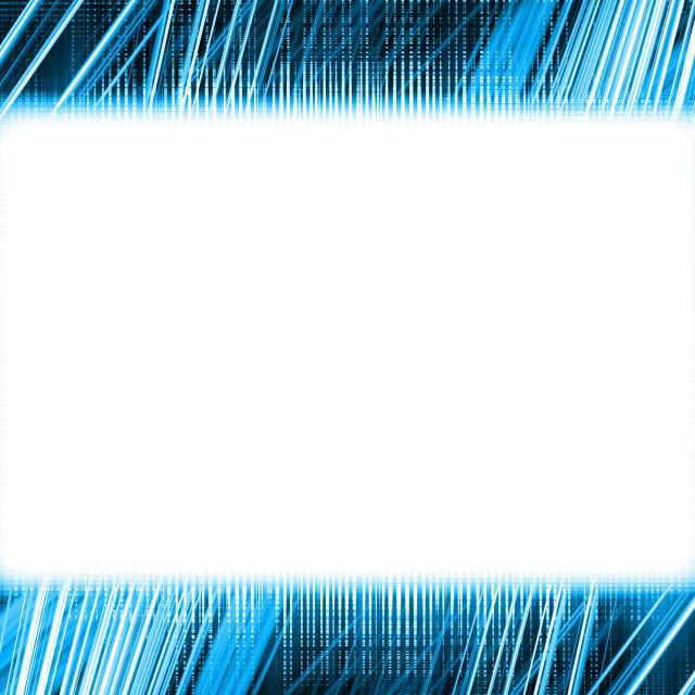 """Blue and white light trails frame"" stock image"