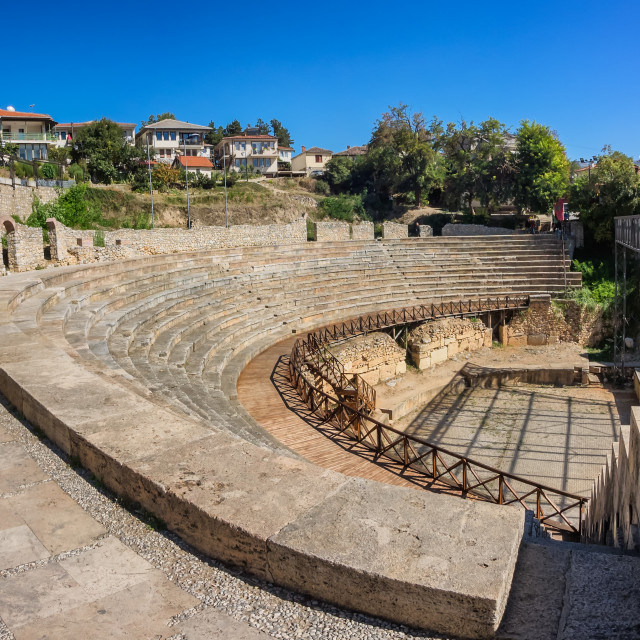 """""""Ancient roman theater in Ohrid in Macedonia"""" stock image"""