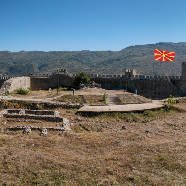 """""""Fortress in Ohrid near the lake in Macedonia"""" stock image"""