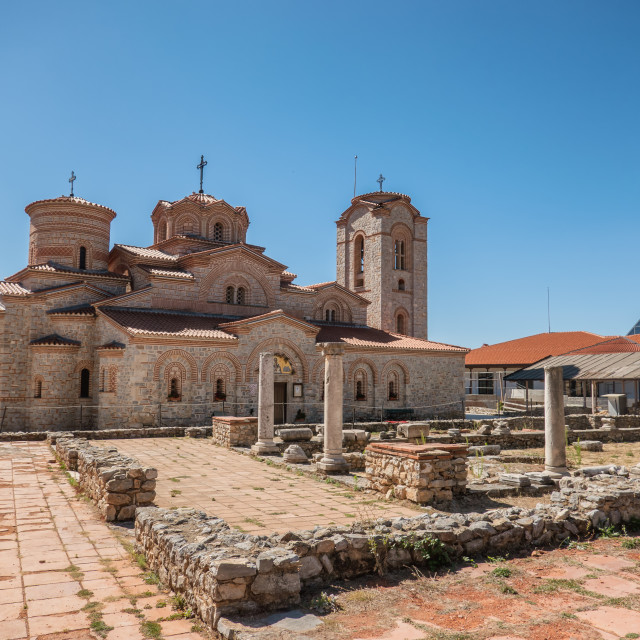 """""""Basilica of St Clement in Ohrid in Macedonia"""" stock image"""