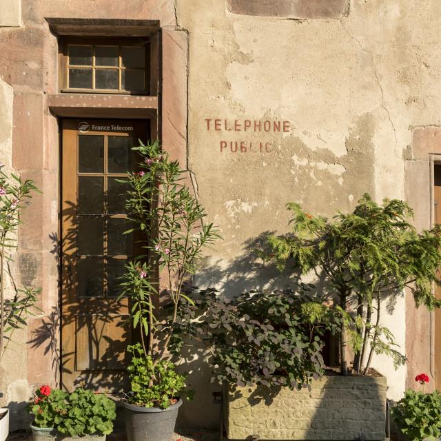 """Kaysersberg Street Scene"" stock image"