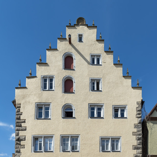 """Crow-stepped Gable, Rothenburg"" stock image"