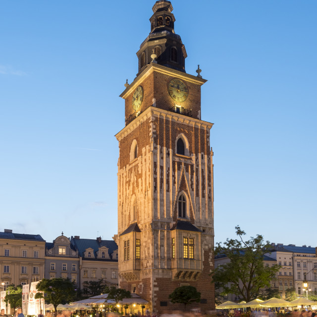 """Town Hall Tower, Krakow"" stock image"