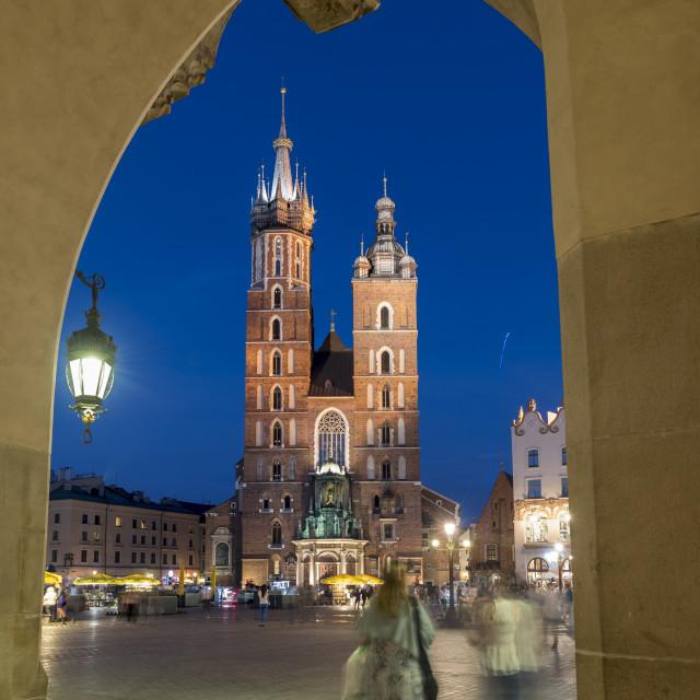 """St. Mary's Basilica, Krakow"" stock image"