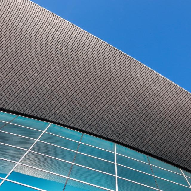 """The Aquatics Centre, London"" stock image"